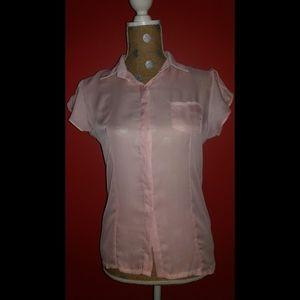 NIB Choies Light Pink Button Down Blouse